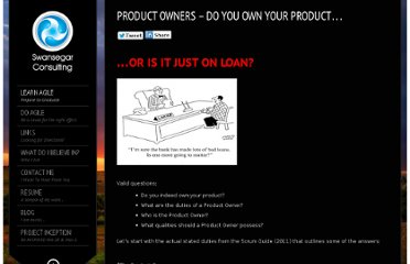 http://swansegarconsulting.com/learn-agile/agile-roles-titles/product-owners-do-you-own-your-product/