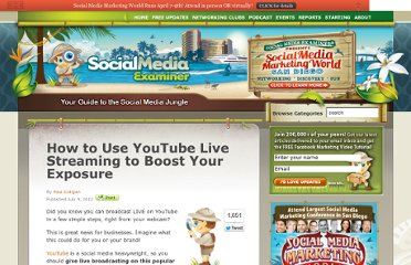 http://www.socialmediaexaminer.com/youtube-live-streaming/