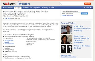 http://inventors.about.com/od/licensingmarketing/a/tutor_marketing.htm