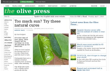 http://www.theolivepress.es/spain-news/2012/07/09/too-much-sun-try-these-natural-cures/