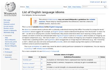 http://en.wikipedia.org/wiki/List_of_English_language_idioms
