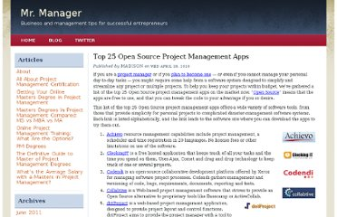 http://mastersinprojectmanagement.org/top-25-open-source-project-management-apps.html