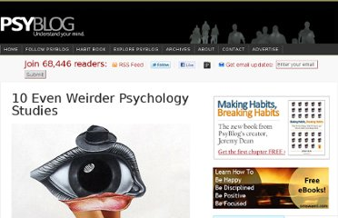 http://www.spring.org.uk/2012/07/10-even-weirder-psychology-studies.php