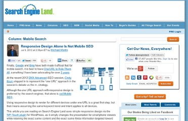 http://searchengineland.com/responsive-design-alone-is-not-mobile-seo-124202