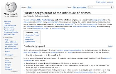 http://en.wikipedia.org/wiki/Furstenberg%27s_proof_of_the_infinitude_of_primes