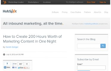 http://blog.hubspot.com/blog/tabid/6307/bid/33369/How-to-Create-200-Hours-Worth-of-Marketing-Content-in-One-Night.aspx
