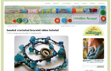 http://blog.creativekismet.com/2012/06/15/beaded-crocheted-bracelet-tutorial/