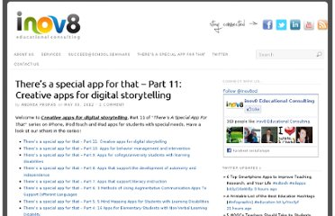 http://www.inov8-ed.com/2012/05/theres-a-special-app-for-that-part-11-creative-apps-for-digital-storytelling/