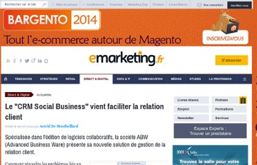 http://www.e-marketing.fr/Breves/-La-CRM-Social-Business-47549.htm