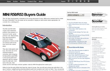 http://www.motoringfile.com/mini-r50r53-buyers-guide/