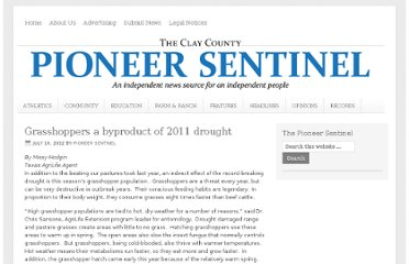 http://pioneer-sentinel.com/2012/07/10/grasshoppers-a-byproduct-of-2011-drought/