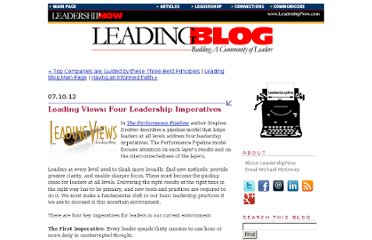 http://www.leadershipnow.com/leadingblog/2012/07/leading_views_four_leadership.html