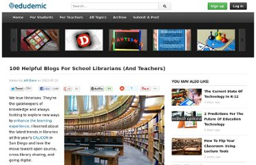 http://edudemic.com/2012/07/librarian-blogs/