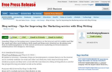 http://www.free-press-release.com/news-blog-writing-tips-for-improving-the-marketing-service-with-blog-writing-1331577589.html