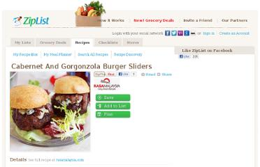 http://www.ziplist.com/recipes/620302-Cabernet_and_Gorgonzola_Burger_Sliders