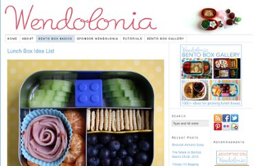 http://wendolonia.com/blog/bento-box-basics/lunch-box-idea-list/