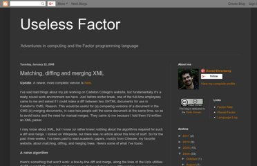 http://useless-factor.blogspot.com/2008/01/matching-diffing-and-merging-xml.html