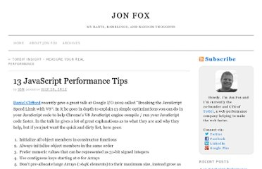 http://www.jonefox.com/blog/2012/07/10/13-javascript-performance-tips/