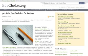 http://educhoices.org/articles/50_of_the_Best_Websites_for_Writers.html