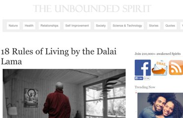 http://theunboundedspirit.com/18-rules-of-living-by-the-dalai-lama/