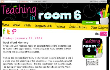 http://teachinginroom6.blogspot.com/2012/01/root-word-memory.html