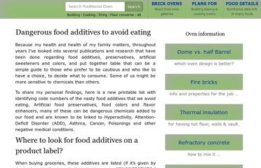 http://www.traditionaloven.com/articles/122/dangerous-food-additives-to-avoid