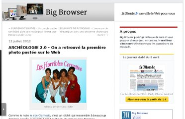http://bigbrowser.blog.lemonde.fr/2012/07/11/archeologie-2-0-on-a-retrouve-la-premiere-photo-postee-sur-le-web/