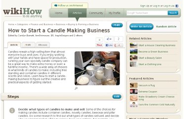 http://www.wikihow.com/Start-a-Candle-Making-Business