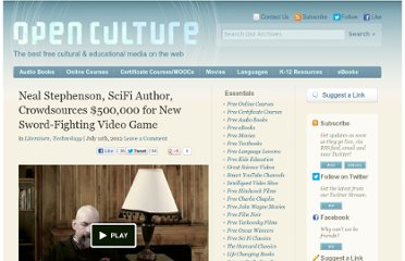 http://www.openculture.com/2012/07/neal_stephenson_video_game.html