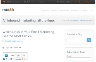 http://blog.hubspot.com/blog/tabid/6307/bid/33379/Which-Links-in-Your-Email-Marketing-Get-the-Most-Clicks.aspx