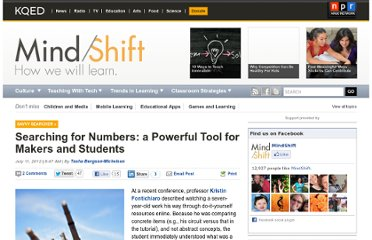 http://blogs.kqed.org/mindshift/2012/07/searching-for-numbers-a-powerful-tool-for-makers-and-students/