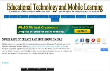 http://www.educatorstechnology.com/2012/07/5-free-apps-to-create-and-edit-videos.html