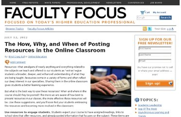 http://www.facultyfocus.com/articles/online-education/the-how-why-and-when-of-posting-resources-in-the-online-classroom/