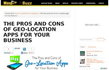 http://www.waspbarcode.com/buzz/pros-cons-geo-location-apps-business/