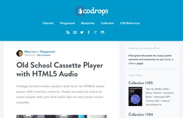http://tympanus.net/codrops/2012/07/12/old-school-cassette-player-with-html5-audio/