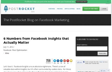 http://blog.getpostrocket.com/2012/07/6-numbers-from-facebook-insights-that-actually-matter/