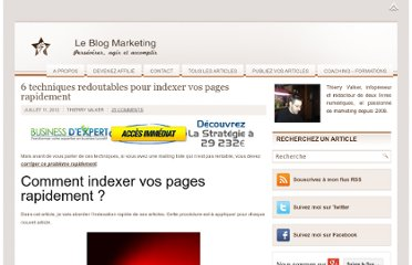 http://www.business-marketing-internet.fr/6-techniques-redoutables-indexer-pages-rapidement/