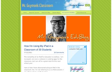 http://mrguymonsclassroom.weebly.com/2/post/2012/07/how-im-using-my-ipad-in-a-classroom-of-30-studentsample.html