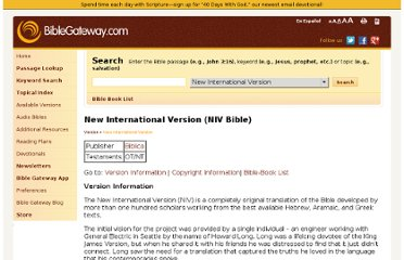 http://www.biblegateway.com/versions/New-International-Version-NIV-Bible/#books&version=NIV