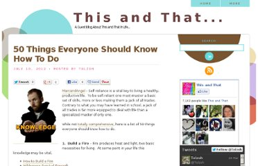 http://tolzoh.blogspot.com/2012/07/50-things-everyone-should-know-how-to.html