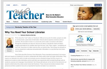 http://www.kentuckyteacher.org/kentucky-teacher-of-the-year/2012/07/why-you-need-your-school-librarian/
