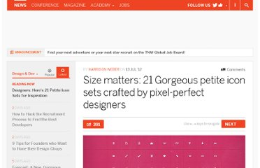 http://thenextweb.com/dd/2012/07/13/size-matters-21-gorgeous-petite-icon-sets-crafted-by-pixel-perfect-designers/
