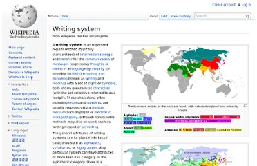 http://en.wikipedia.org/wiki/Writing_system