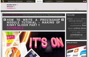 http://www.bazingadesigns.com/en/blog/tutorials/how-to-write-a-prestashop-module-tutorial-making-of-kinky-slider-part-1