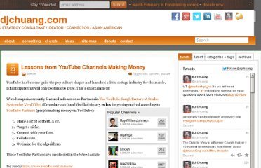 http://djchuang.com/2012/lessons-from-youtube-channels-making-money/
