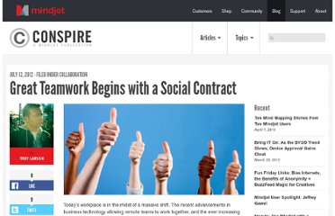 http://blog.mindjet.com/2012/07/great-teamwork-begins-with-a-social-contract/
