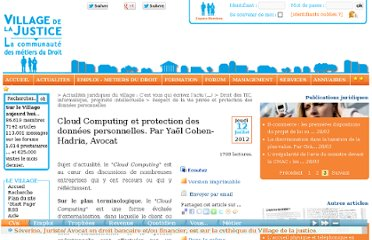 http://www.village-justice.com/articles/Cloud-Comuting-protection-donnees,12532.html
