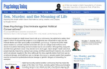 http://www.psychologytoday.com/blog/sex-murder-and-the-meaning-life/201103/does-psychology-discriminate-against-political-conservat