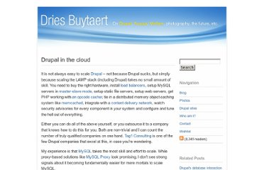 http://buytaert.net/drupal-in-the-cloud