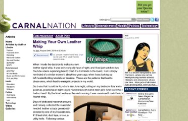 http://carnalnation.com/content/58446/1474/making-your-own-leather-whip